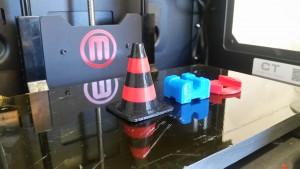 Exempel på detaljer utskrivna i vår 3D-skrivare