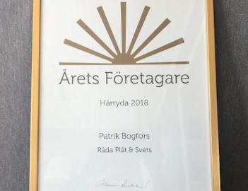 Årets företagare i Härryda Kommun 2018